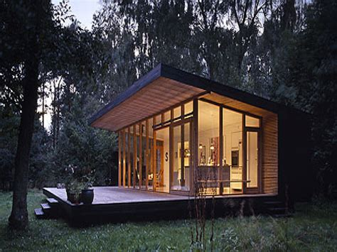 Contemporary Cabin Plans | small cottage house plans small modern house plans