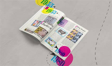 magazine layout history design history magazine pop art on behance