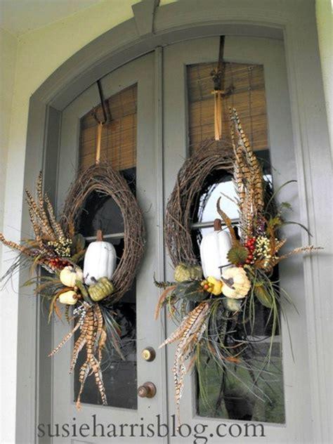 diy fall wreaths front door fall outdoor decorating ideas