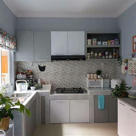 model motif keramik dapur sempit dapur minimalis idaman