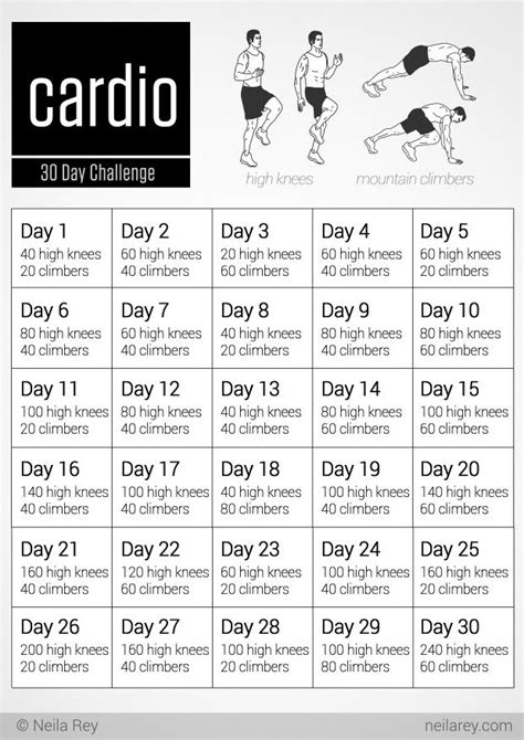 30 day cardio challenge let s workout