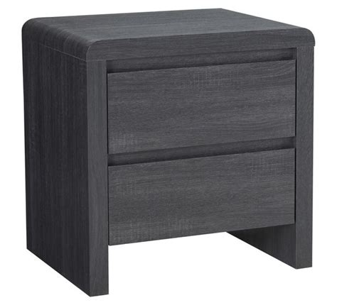groove bedside table charcoal grey wooden bedroom