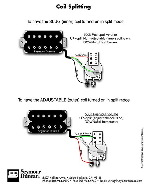 Wiring Diagram For Splitting The Humbucker Into A Single