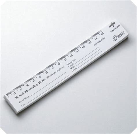 printable photo documentation ruler medline wound measuring paper rulers box of 250
