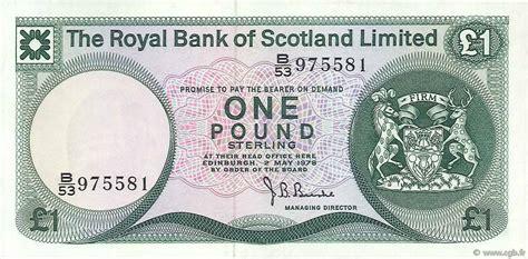 bank of scotland kontakt 1 pound scotland 1978 p 336a b74 0150 banknoten
