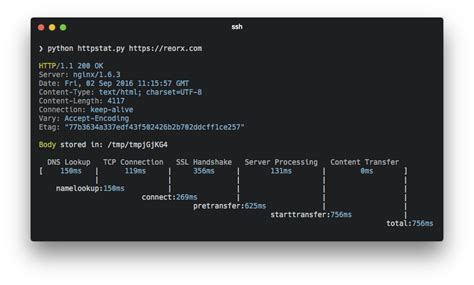 Python Dns Lookup Httpstat Simple Curl Stats