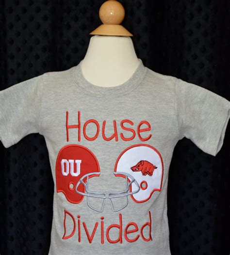 house divided merchandise personalized house divided football team applique shirt or