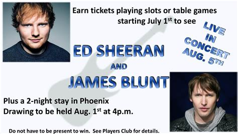 Ed Sheeran Ticket Giveaway - havasu landing resort and casino lake havasu schedule of events overlooking beautiful