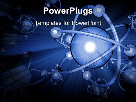 Powerpoint Template Presentation Of Atoms In 3d Form 22321 Nuclear Powerpoint Template