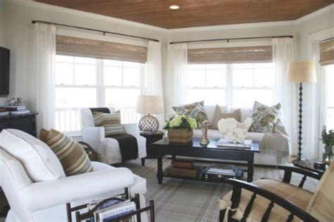 Decorating Living Room Window Treatments Design Tips Cottage Style Decorating