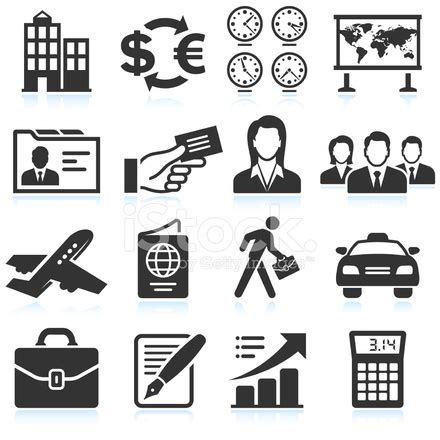 Vector Business Icons Set Royalty Free Stock Photos Image 1095468 Business Travel Black White Royalty Free Vector Icon Set Stock Vector Freeimages