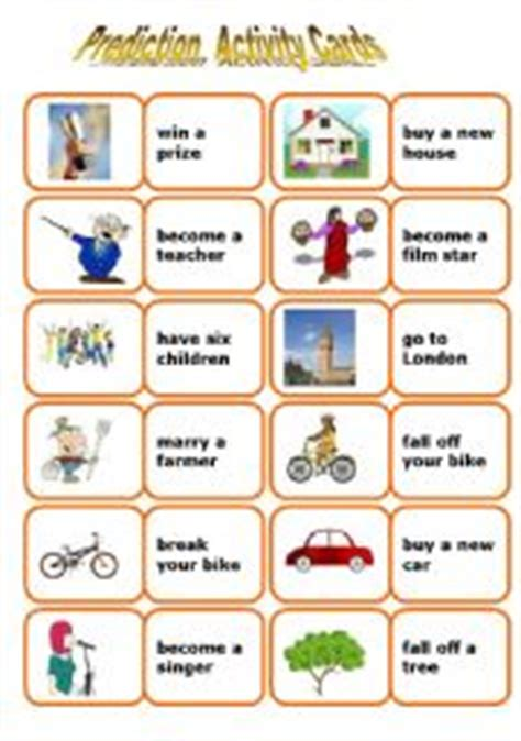 printable tarot cards esl english teaching worksheets future tense