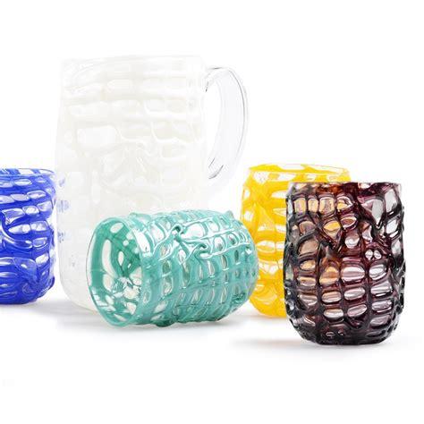 bicchieri vetro murano gode bicchieri colorati con caraffa vetro di murano