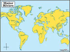 major rivers of map maps world map major rivers