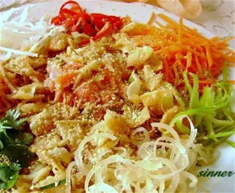yu sang new year salad recipes yee sang new year fish salad the waitakere