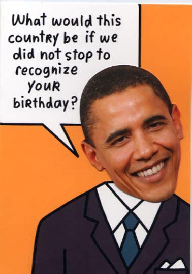 Obama Happy Birthday Card