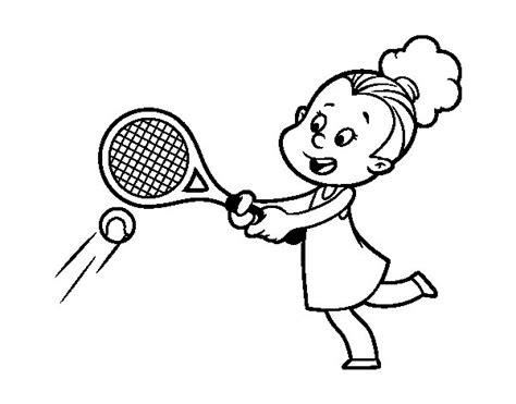 dibujos niños jugando tenis dibujo de ni 241 a jugando a tenis para colorear dibujos net