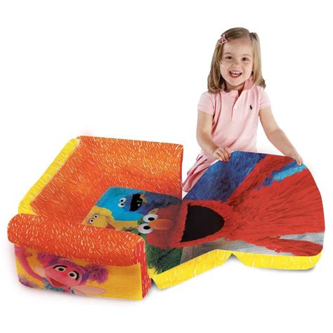 elmo flip open sofa spin master marshmallow furniture flip open sofa elmo