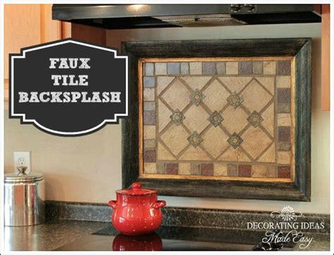 Faux Kitchen Backsplash Hometalk Faux Tile Backsplash