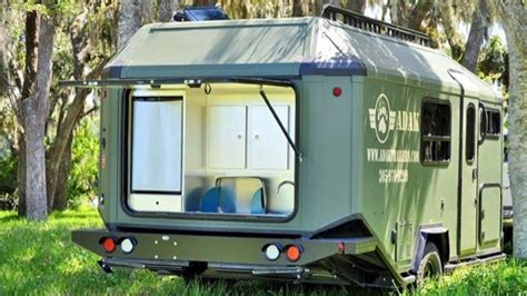 designs builds and produces grid micro cabin trailer