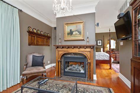 Fireplace Burlington Ontario by Gingerbread House Suite 5 Burlington Furnished Rentals