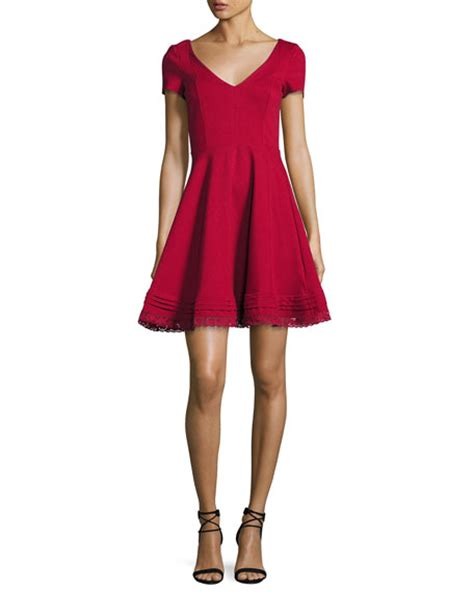 0902 Dress Ribbon Fit L Cc 2 stores in stock valentino sleeve lace hem fit