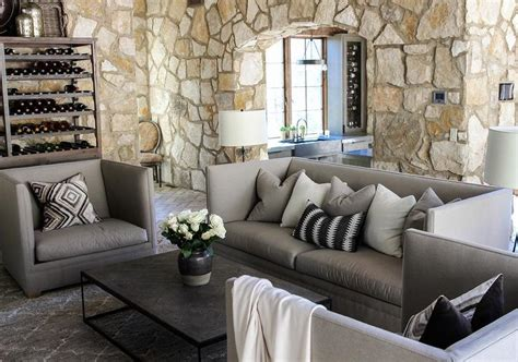 Gray Living Room Chairs by Gray Sofa With Chairs And Black Industrial Coffee Table Cottage Living Room