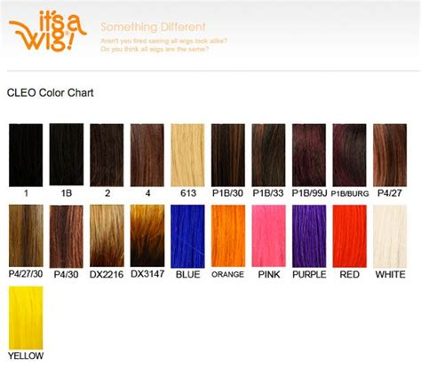 wig color chart it s a wig cleo hair color chart wigs galour