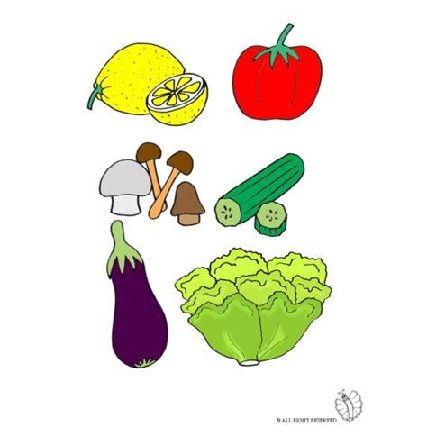 disegni alimenti per bambini disegno di vegetali a colori per bambini