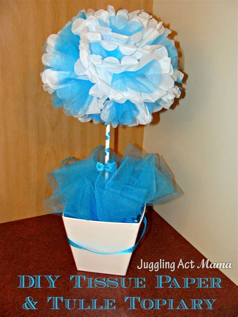tulle topiary diy tissue paper tulle topiary juggling act