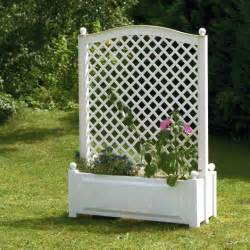 large planter box with trellis central 100 cm