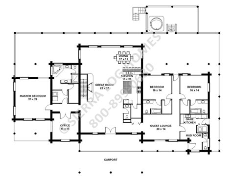 rambler floor plans rambler log homes