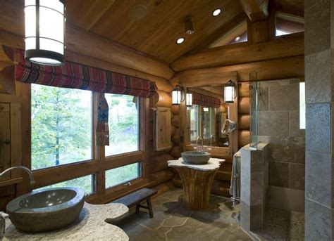 Log Cabin Bathroom by Log Home Design Rustic Bathroom Minneapolis By