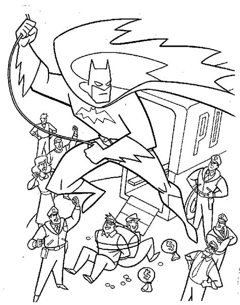coloring pages batman and robin coloring home