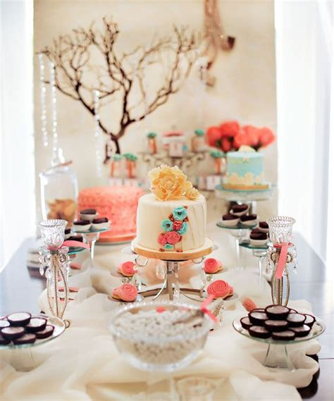 tres shabby chic shower brunch could be for a baby shower bridal shower or just about any