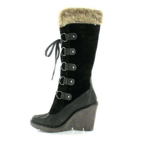 bronx bronx 13743 a womens suede leather faux fur trim