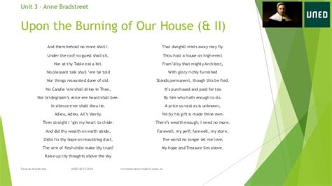 upon the burning of our house uned american literature i 03 anne bradstreet