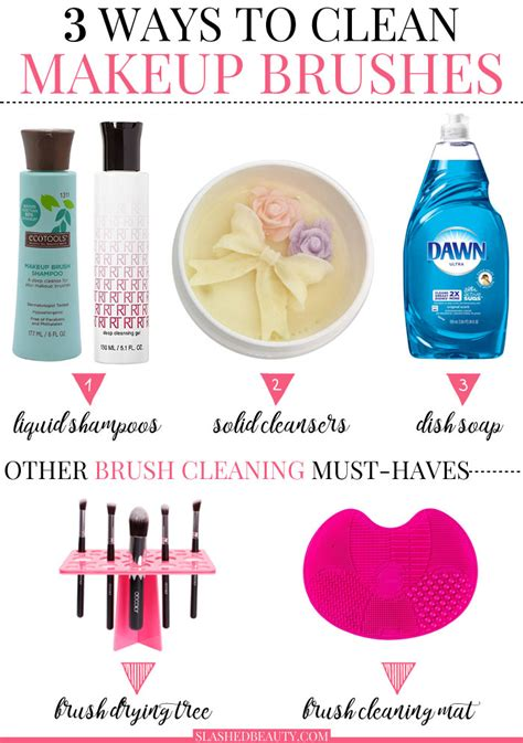 how to clean in 3 cheap ways to clean makeup brushes slashed