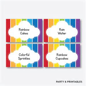 Set Of Editable Colorful Labels Instant Editable Rainbow Food Labels Rainbow Food Tags Food Tents Buffet Cards