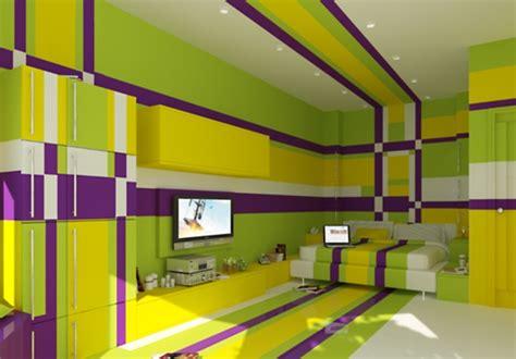 desain gerobak kreatif desain kamar tidur kreatif penuh warna rancangan desain