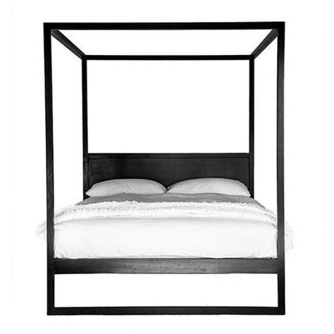black poster bed bed queen or king strand 4 poster in black by uniqwa