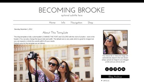 black white blogger template simple modern template