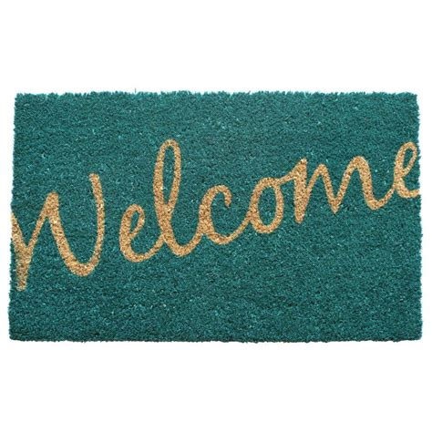 Welcome Mat Home Entryways Cursive Welcome 17 In X 28 In Non Slip Coir
