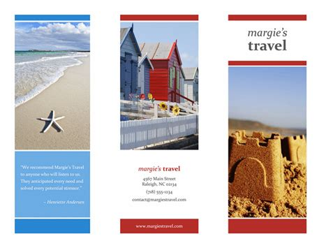 tri fold travel brochure red gold blue design office
