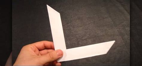How To Make Boomerangs Out Of Paper - the gallery for gt how to make a paper boomerang