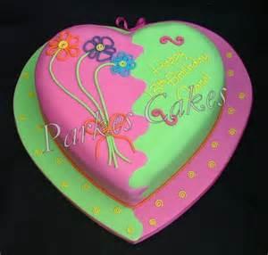kuchen herz funky birthday cake
