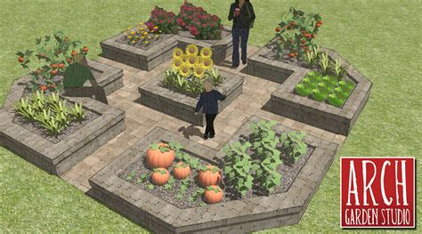 Raised Garden Layout Raised Bed Vegetable Garden Layout Plans