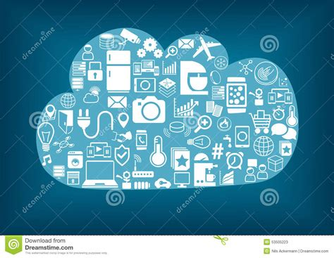 smart home cloud computing stock vector image 53505223