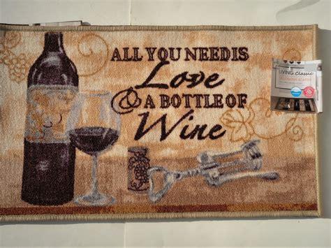 Wine Kitchen Mat by Wine Bottle Kitchen Rug Inspirational Humorous Mat