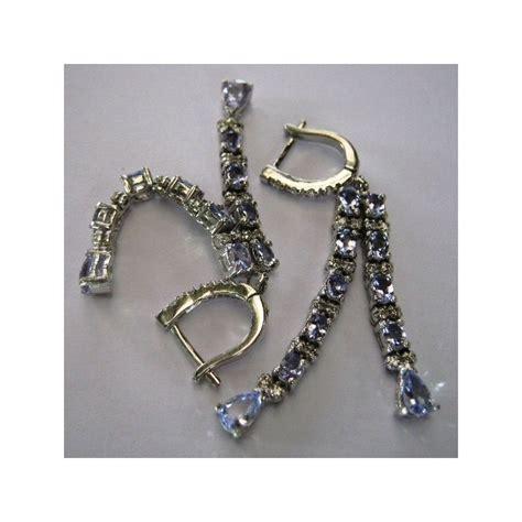 Anting Silver Lapis Emas Putih Hoop Batu Berlian Daun Elegan Be073s anting silver 925 permata violete tanzanite bercahaya